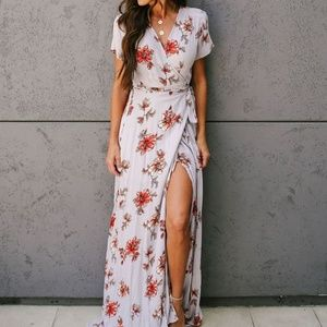Lilyful maxi wrap dress